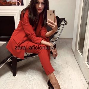 Zara Tuxedo Satin Trim Ankle Pants -Large 2121/783